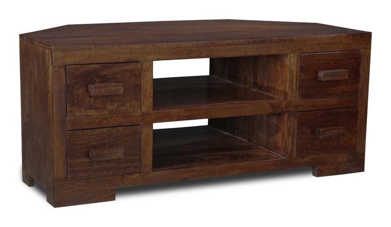 Manhattan Furniture Solid Mango Corner Tv Unit (H13D) | Ebay In Current Wooden Corner Tv Units (Image 14 of 20)