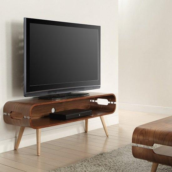 Marin Wide Tv Stand In Walnut With Solid Ash Spindle Shape In Recent Cool Tv Stands (View 15 of 20)