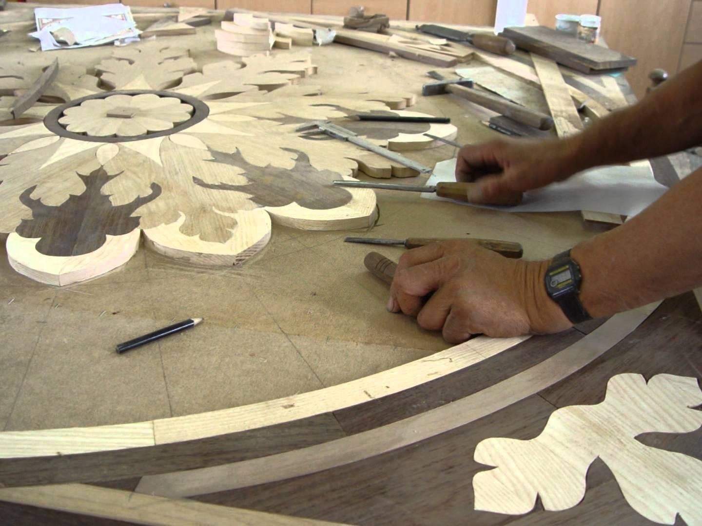Marquetry – Inlay/medallion – Hope – Luxury Wood Flooring – Youtube Within Italian Inlaid Wood Wall Art (Image 12 of 20)