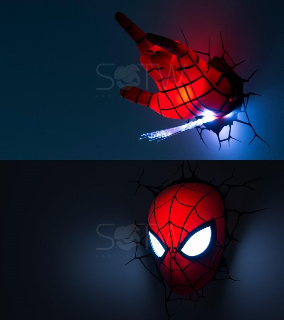 Marvel Avengers Led 3D Wall Night Light Home Deco Comic Super With Regard To 3D Wall Art Nightlight (View 12 of 20)