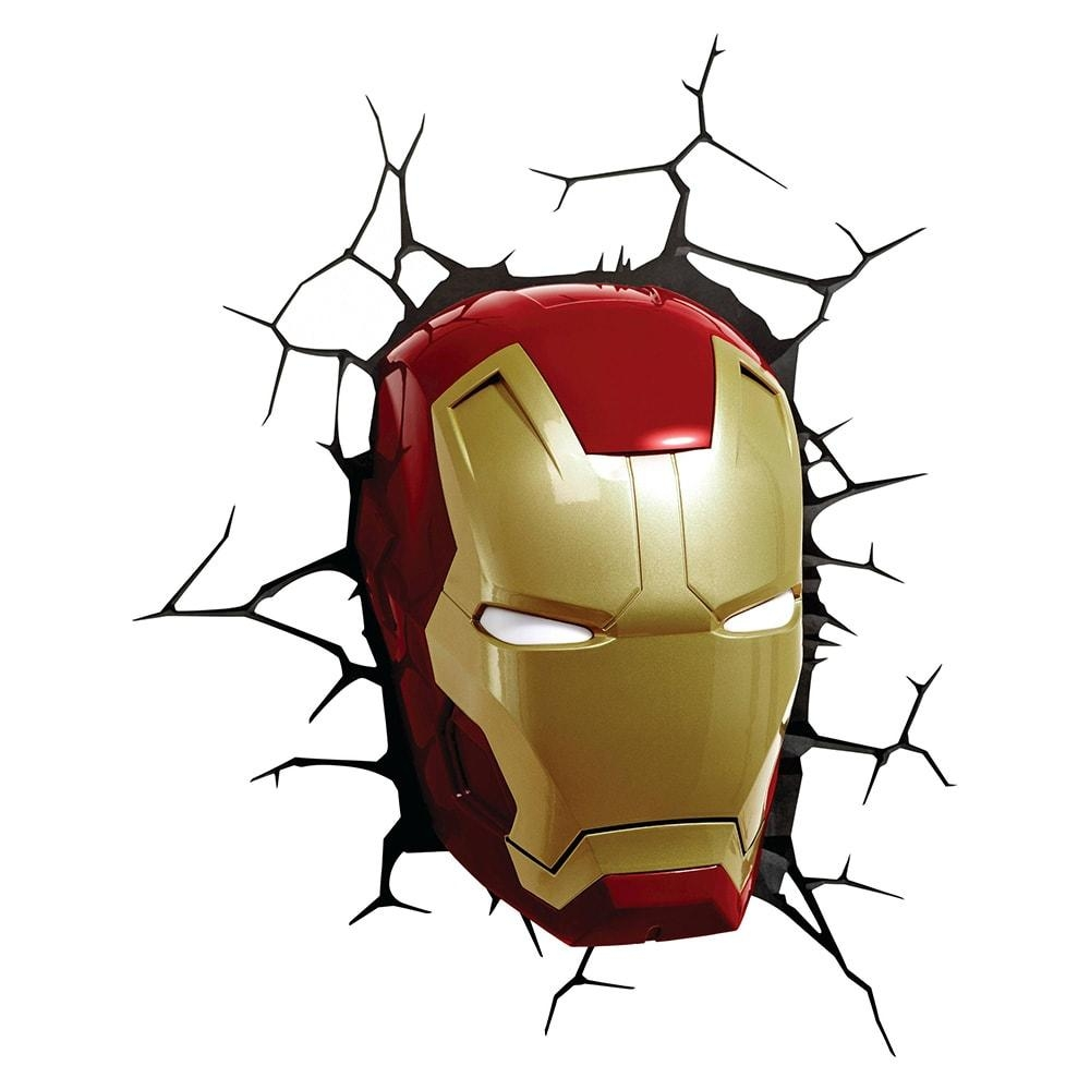 Marvel, Dc Heroes 3D Deco Led Wall Night Light: Iron Man, Captain For 3D Wall Art Nightlight (View 16 of 20)