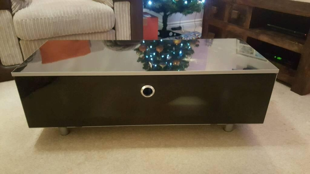 Matrix Gloss Black Beam Thru Tv Cabinet | In Walsall, West Throughout Most Current Beam Thru Tv Cabinet (Image 14 of 20)