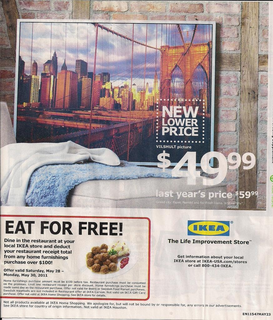 May 2011 Ikea Brooklyn Bridge Print Ad | Bryan | Flickr Throughout Ikea Brooklyn Bridge Wall Art (Image 13 of 20)