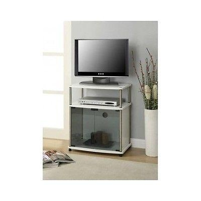 Media Cabinet With Doors. White Wooden Media Cabinet With Tv Stand Throughout Most Popular Small White Tv Stands (Photo 19 of 20)