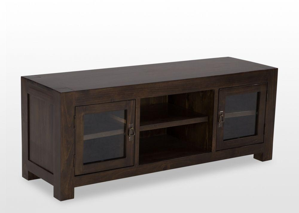 Medium Dark Pine Tv Unit – Montreal – Ez Living Furniture For Newest Pine Tv Unit (Image 8 of 20)
