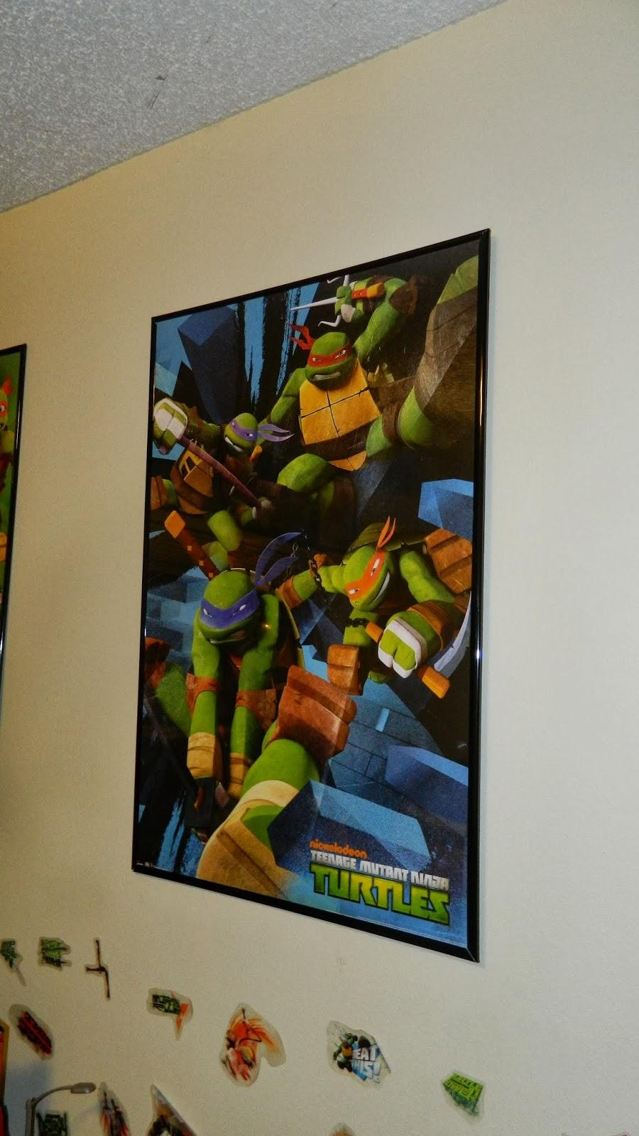 "Memoirs From The Belly: How We Turned My Son's Room Into An ""epic With Tmnt Wall Art (Photo 7 of 20)"