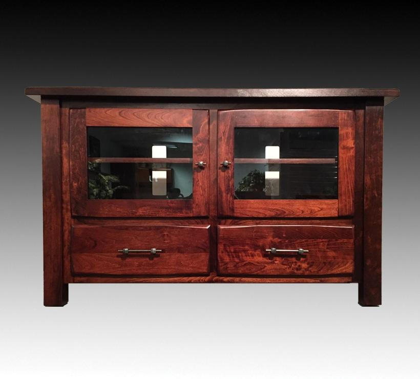 Mentor Tv • Ashery Oak Bf5030 Amish Tv Stand • Mentortv Inside Most Current Rustic Red Tv Stands (Image 11 of 20)
