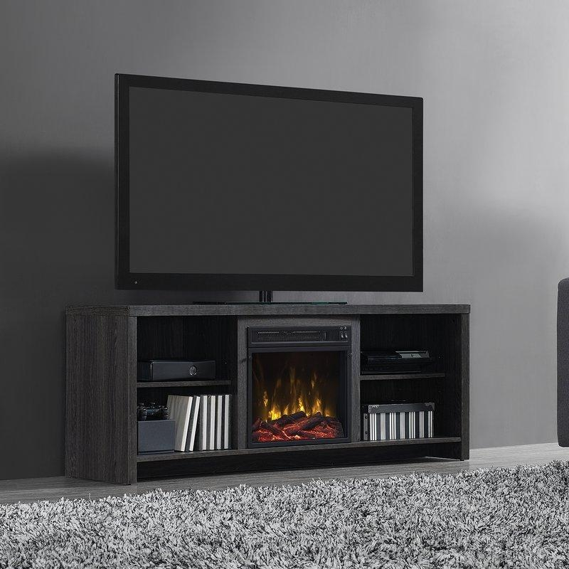 """Mercury Row Cadle 60"""" Tv Stand With Fireplace & Reviews 