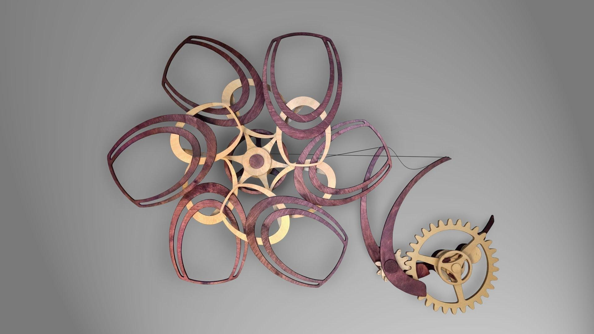Merlot – A Kinetic Wooden Sculpture – Youtube Pertaining To Kinetic Wall Art (Image 10 of 20)