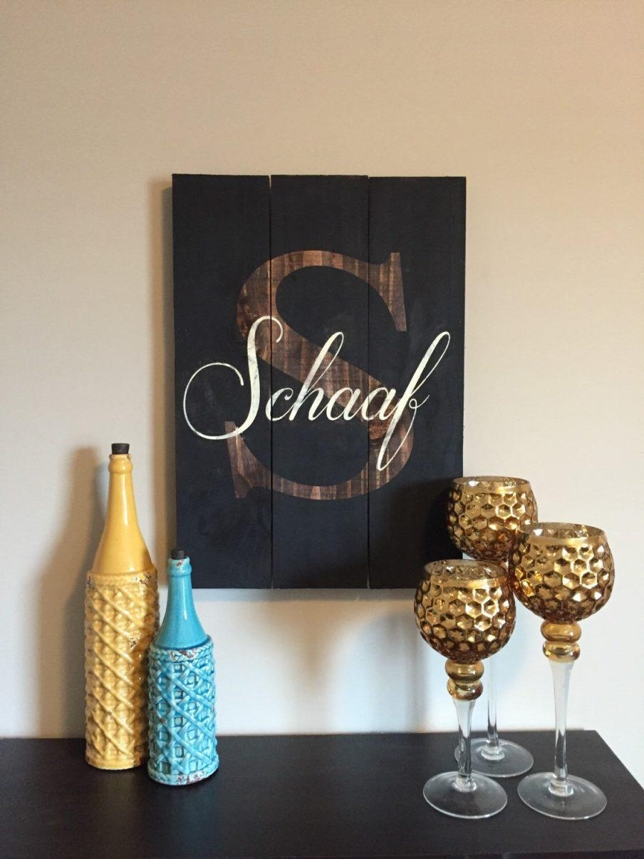 Mesmerizing Personalized Metal Wall Art Home Products Custom With Monogrammed Wall Art (Image 10 of 20)