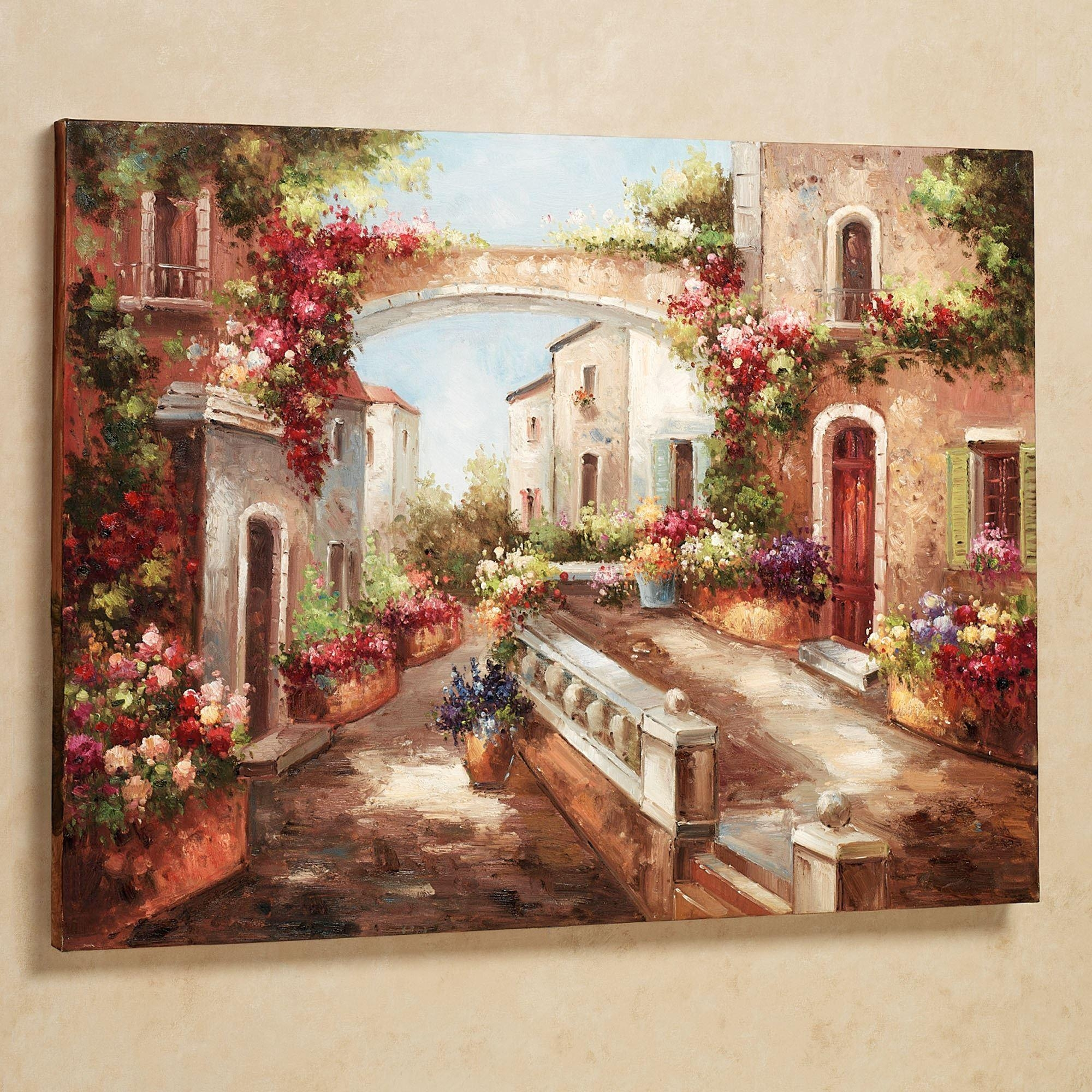 Mesmerizing Tuscan Flowers Canvas Wall Art Metal Wall Plaque Home Inside Tuscan Italian Canvas Wall Art (View 2 of 20)