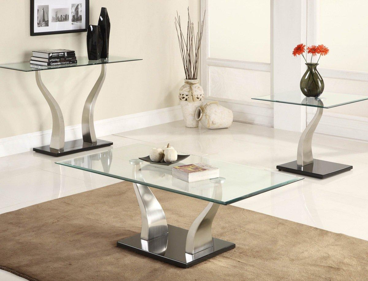 Metal And Glass Sofa Table 98 With Metal And Glass Sofa Table Inside Metal Glass Sofa Tables (Image 11 of 22)