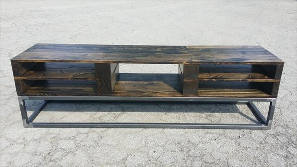 Metal And Wood Tv Stand #4305 Within Best And Newest Wood And Metal Tv Stands (View 5 of 20)