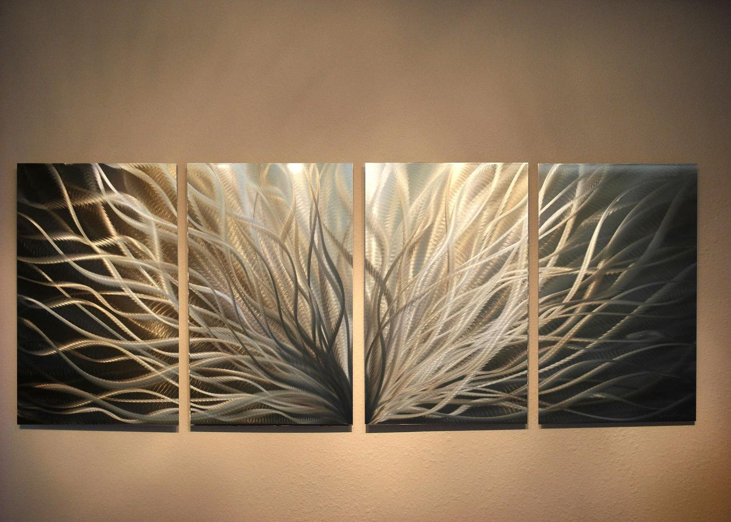 Metal Art Wall Art Decor Aluminum Abstract Contemporary Modern Regarding Metal Art For Wall Hangings (View 14 of 20)