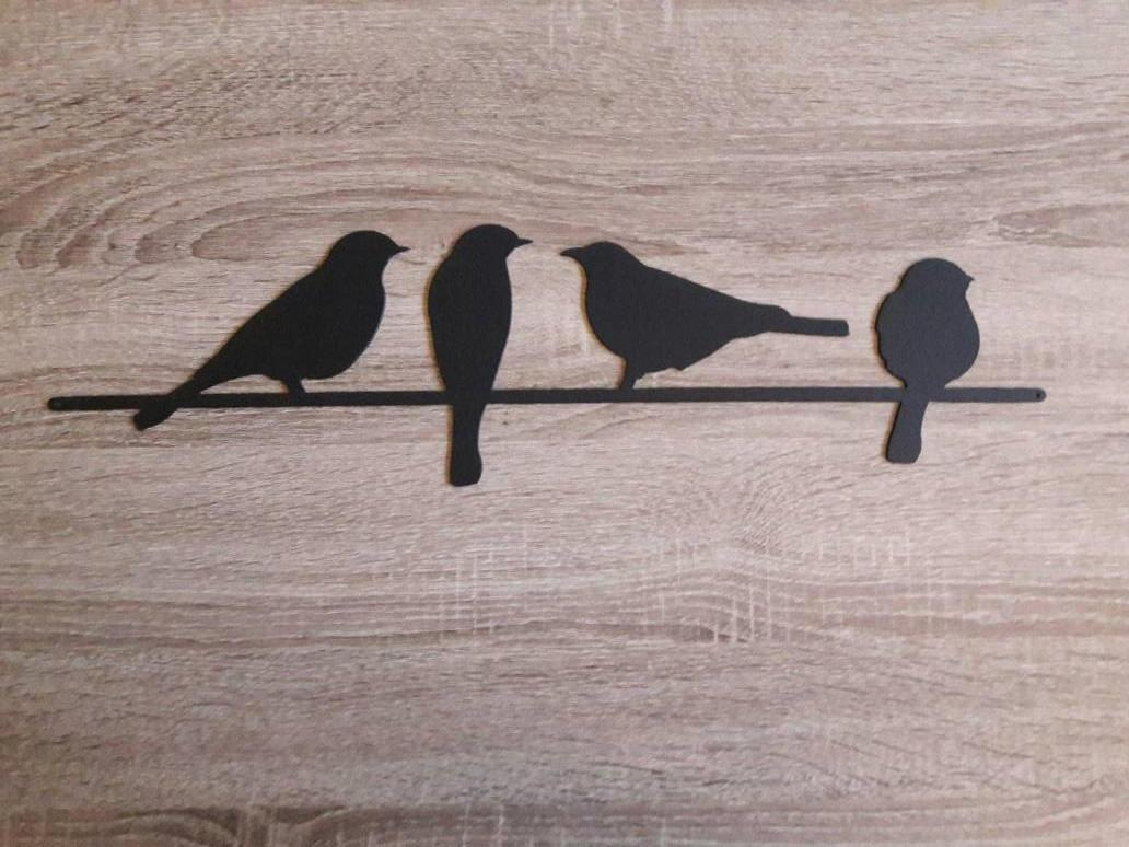 Metal Bird Wall Art Birds On A Wire Wall Art Metal Wall Art Within Birds On A Wire Wall Art (Image 16 of 20)