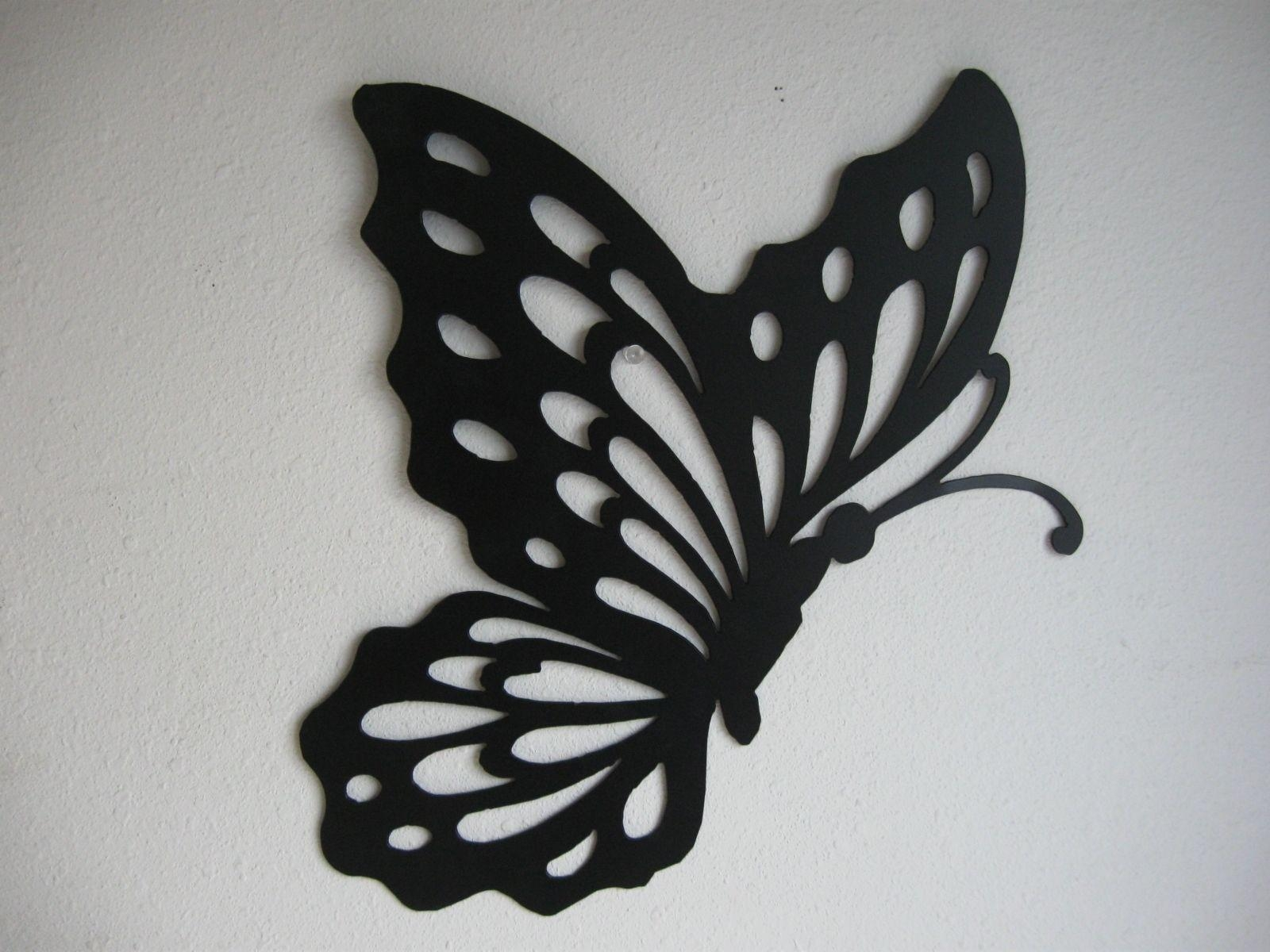 Metal Butterfly Wall Decor In White Metal Butterfly Wall Art (Image 10 of 20)