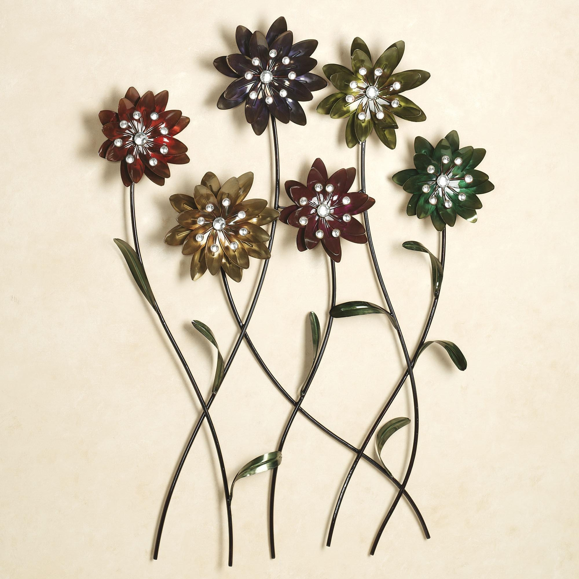 Metal Flowers Wall Art Pic Photo Metal Flower Wall Art – Home Within Silver Metal Wall Art Flowers (View 10 of 20)