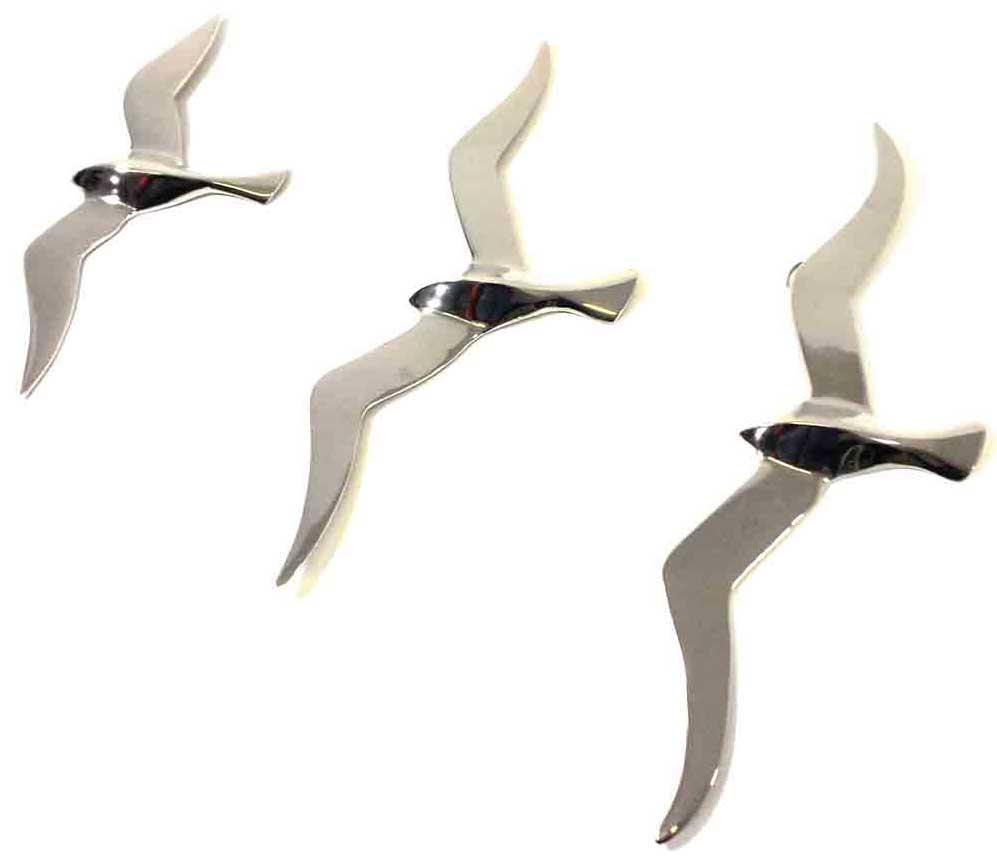 Metal Flying Birds Wall Art 3 Seagulls | Home Interior & Exterior Pertaining To Metal Flying Birds Wall Art (View 18 of 20)