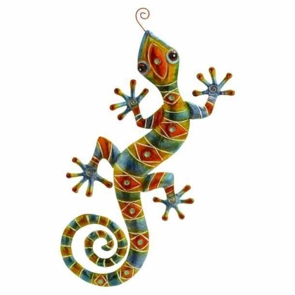 Metal Gecko Outdoor Wall Decor 38 Haitian Metal Haitimetalart Pertaining To Gecko Outdoor Wall Art (View 4 of 20)