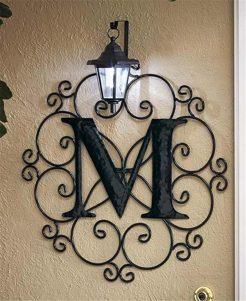 Metal Monogram Wall Art – Wall Shelves Intended For Monogram Metal Wall Art (View 7 of 20)