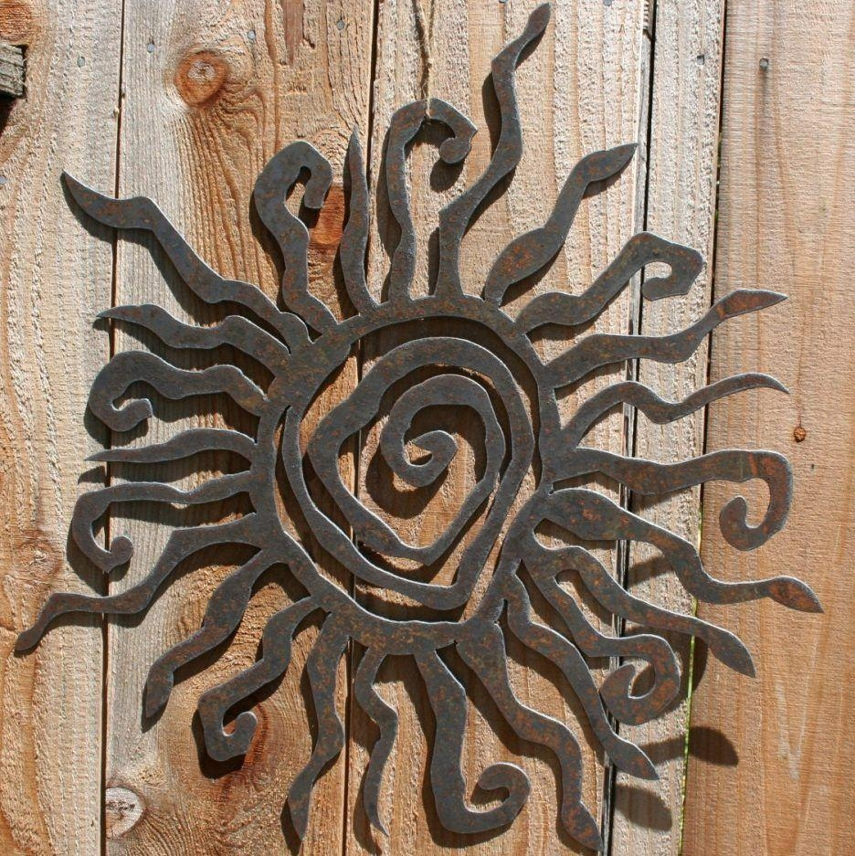 Metal Outdoor Wall Decor – Simple Outdoor Pertaining To Tropical Outdoor Wall Art (Image 3 of 20)