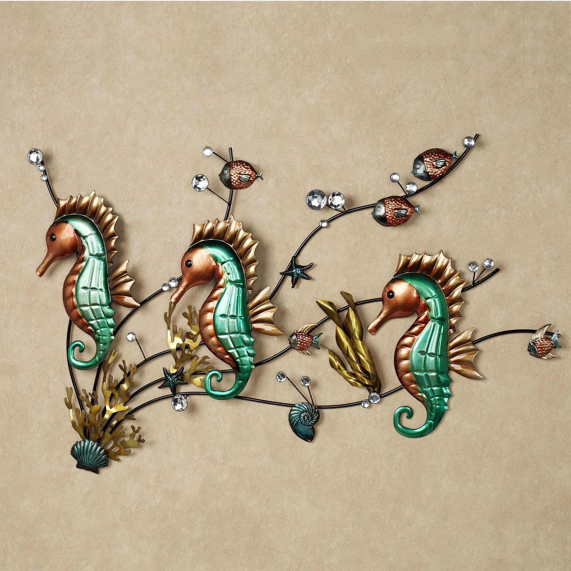 Metal Seahorse Wall Decor : Seahorse Wall Decor A Baby's Bedroom With Sea Horse Wall Art (Image 6 of 20)
