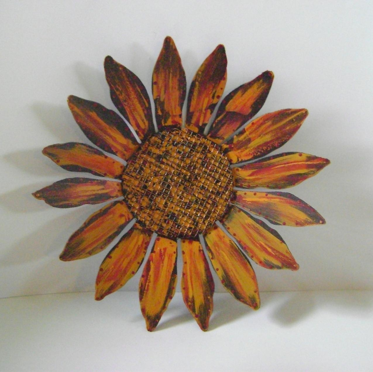Metal Sunflower Wall Art – Takuice With Regard To Sunflower Metal With Metal Sunflower Wall Art (Image 6 of 20)