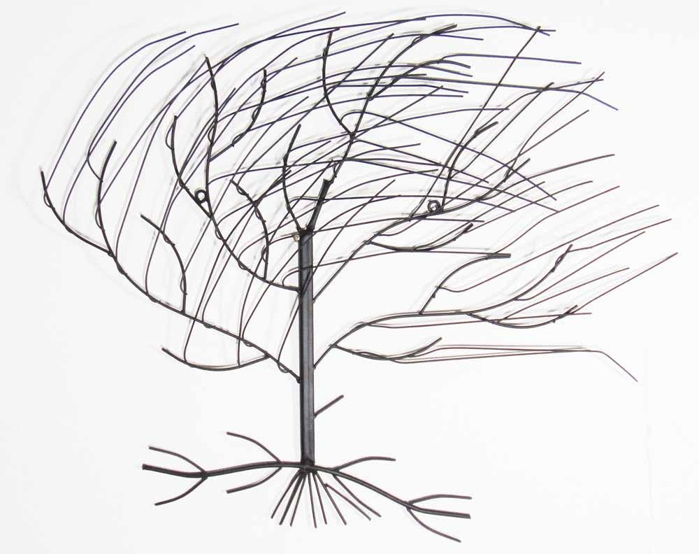Metal Wall Art – Large Windy Oak Tree Intended For Windy Oak Tree Metal Wall Art (Image 9 of 20)