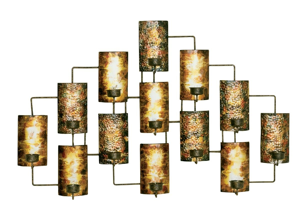 Metal Wall Designs Home Decor Art Metallic Wall Art Metal Wall With Regard To Metal Wall Art With Candles (Image 5 of 20)