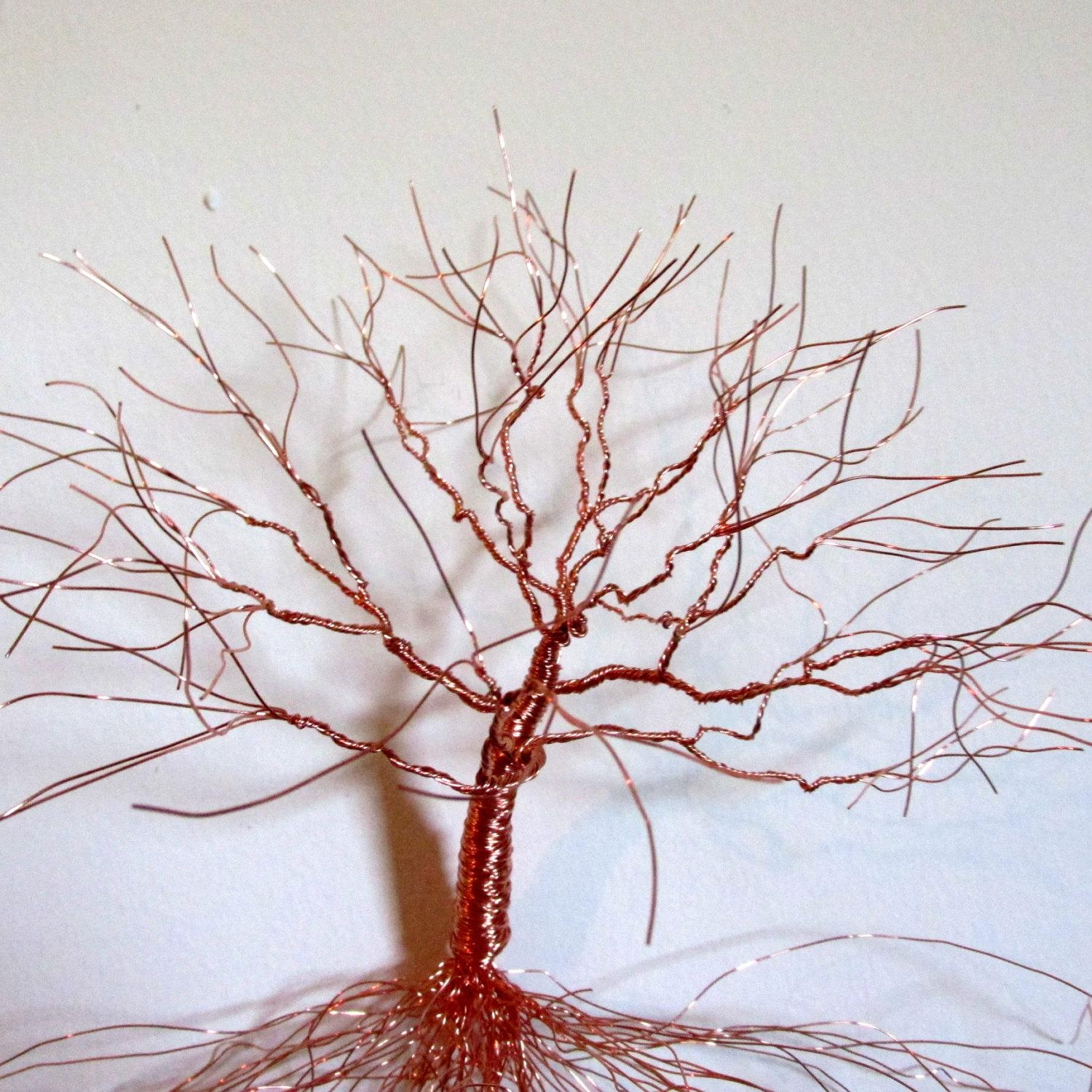Metal Wall Sculpture | Copper Wall Art | Wall Decor | Home Decor Intended For Copper Oak Tree Wall Art (View 3 of 20)