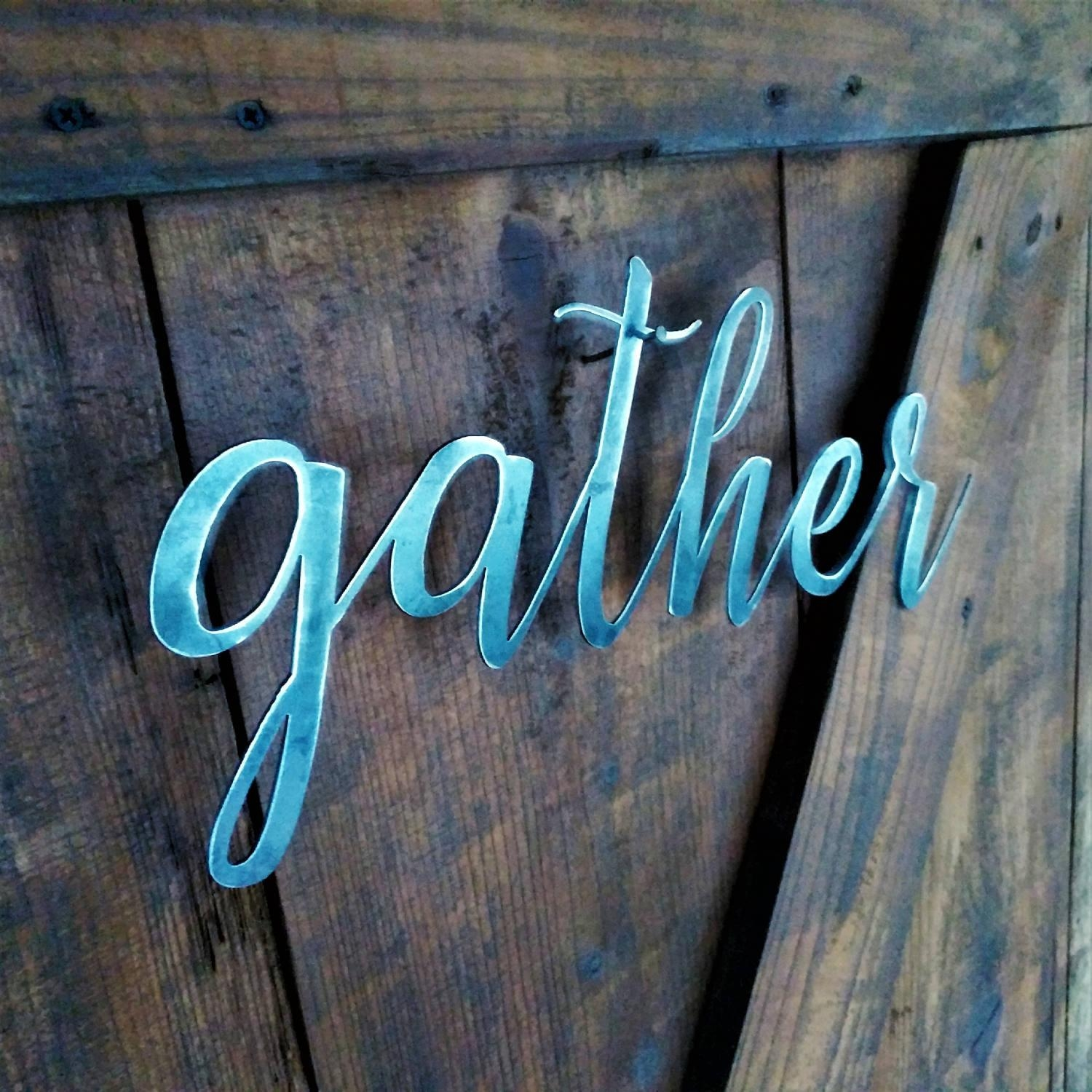Metal Words And Quotes – Letterlandusa Throughout Metal Wall Art Quotes (Image 7 of 20)