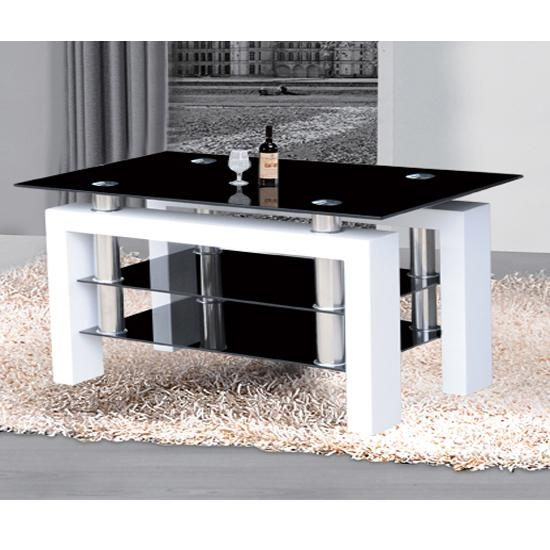 Metro Black Glass Large Tv Stand In High Gloss White 17822 Intended For Most Recent White Glass Tv Stands (Image 11 of 20)