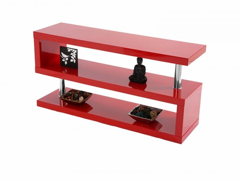 Miami High Gloss Modern Grey Tv Stand With Regard To Best And Newest Red Modern Tv Stands (View 11 of 20)