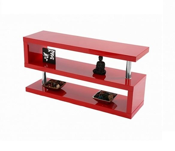 Miami High Gloss Modern Red Tv Stand Intended For Most Up To Date Red Gloss Tv Stands (Image 8 of 20)