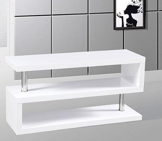 Miami High Gloss Modern White Tv Stand In Latest Contemporary White Tv Stands (View 7 of 20)