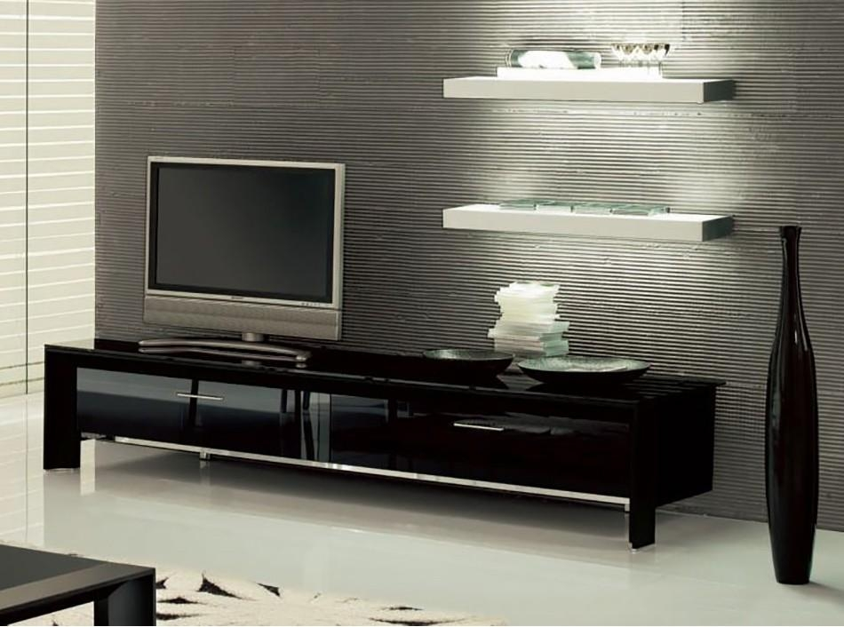 Miami Tv Standtonin Casa – Tv Stands – Living Room Pertaining To Most Current Black Tv Stand With Glass Doors (View 18 of 20)