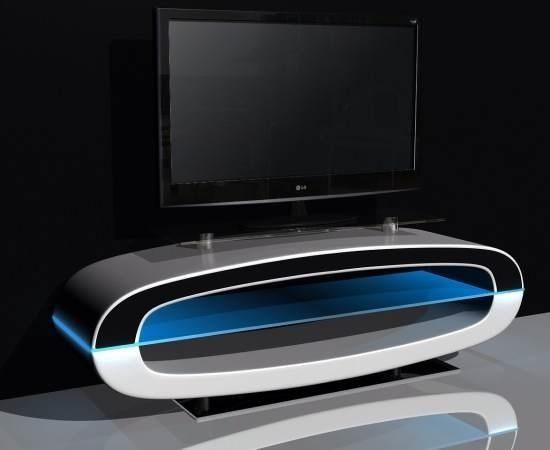 Michigan Tv Stand High Gloss White With Speakers And Usb In 2017 White Oval Tv Stands (Image 12 of 20)