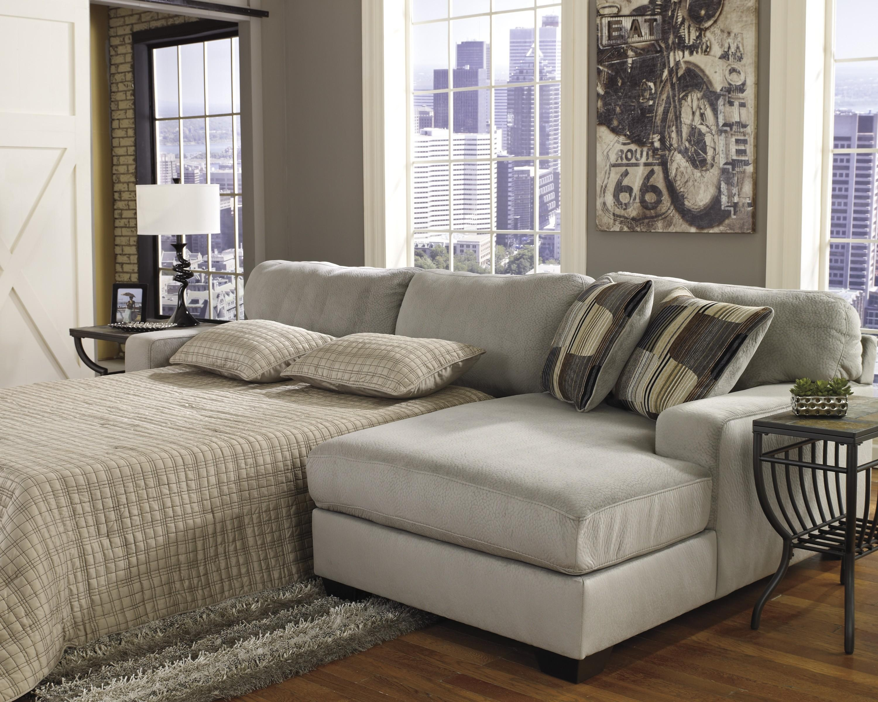 Microfiber Chaise Sleeper Sofa | Centerfieldbar Within Sectional Sofas With Sleeper And Chaise (View 6 of 21)