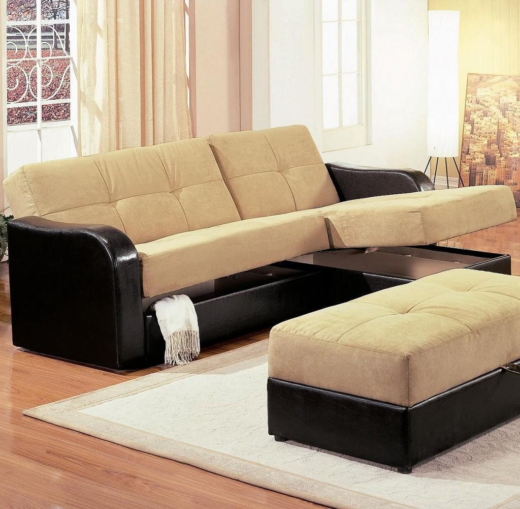 Mid Century Best Modern Sectional Sleeper Sofa With Storage And With Black Leather Sectional Sleeper Sofas (View 14 of 21)