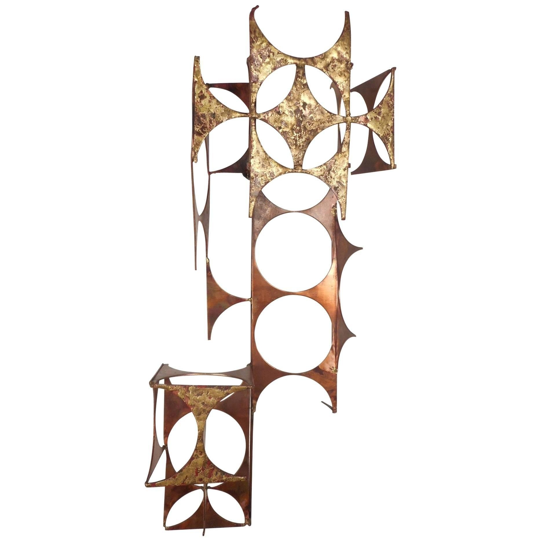 Mid Century Modern C Jere Style Copper And Brass Wall Art For In C Jere Wall Art (View 12 of 20)