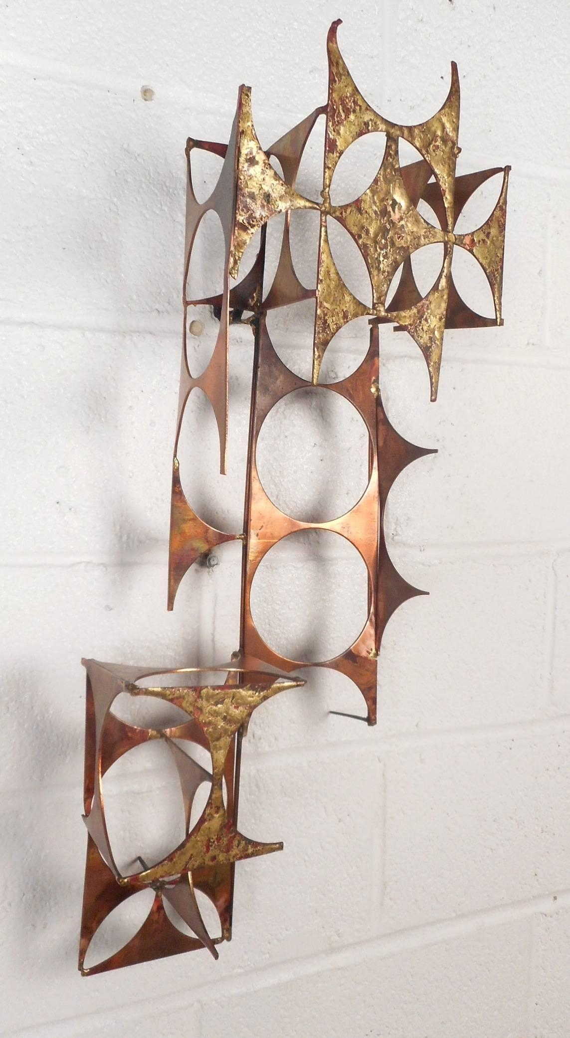 Mid Century Modern C Jere Style Copper And Brass Wall Art For In C Jere Wall Art (View 7 of 20)