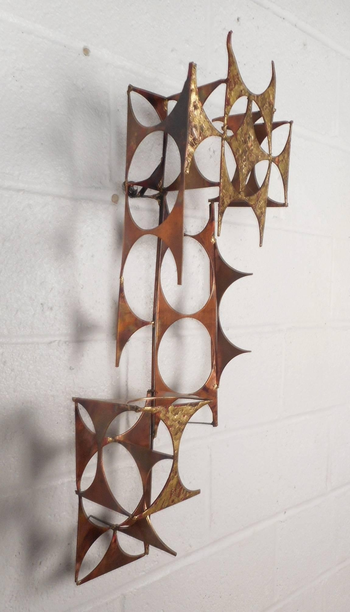 Mid Century Modern C Jere Style Copper And Brass Wall Art For With Regard To C Jere Wall Art (Image 18 of 20)