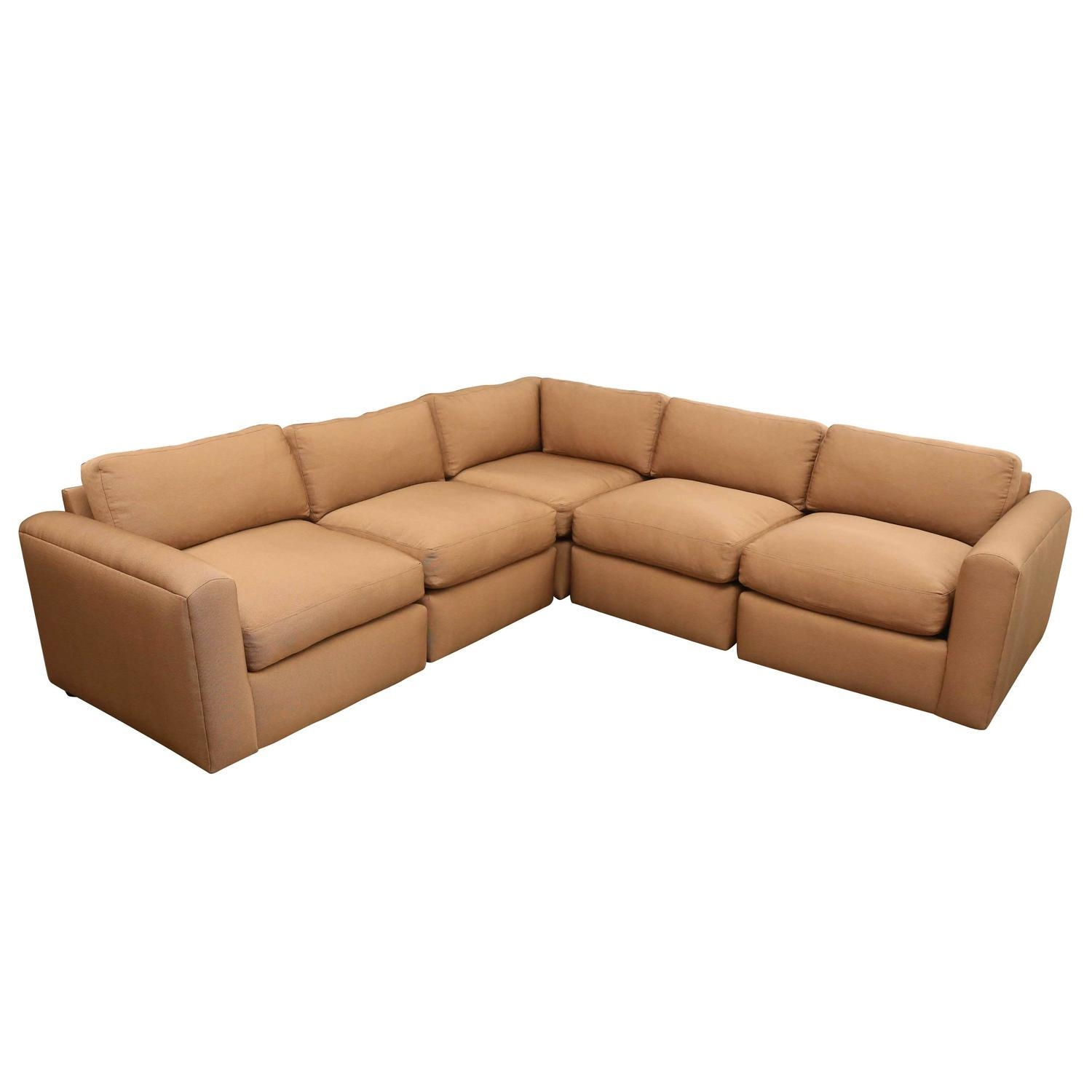 Mid Century Modern Reupholstered Baughman Style Sectional Sofa Within Vintage Leather Sectional Sofas (Image 6 of 20)