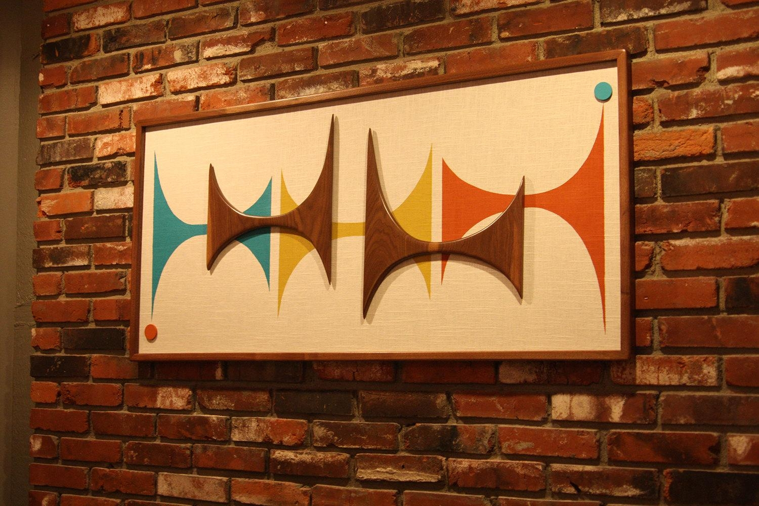 Mid Century Modern Witco Madmen Abstract Wall Art Sculpture Pertaining To Mad Men Wall Art (Image 14 of 20)