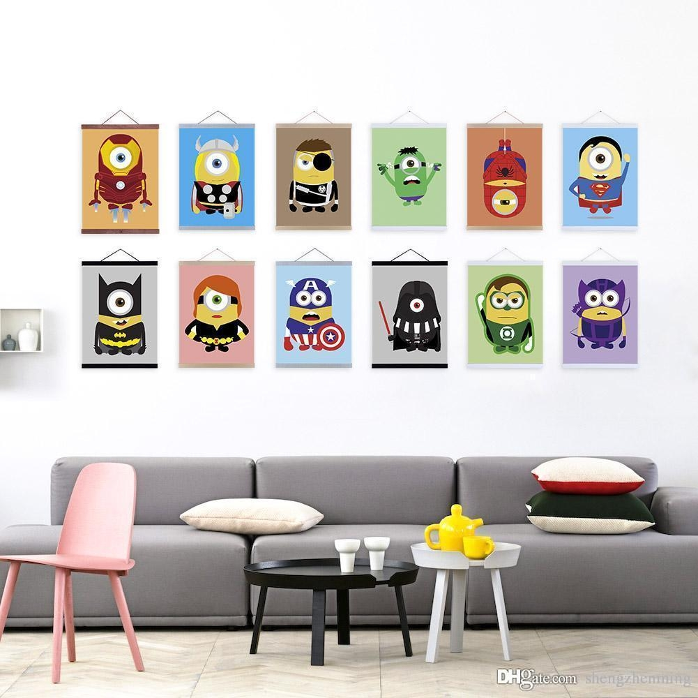Mild Art Anime Game Minions American Hero Set Custom Diy Cute For Wall Art For Game Room (View 19 of 20)