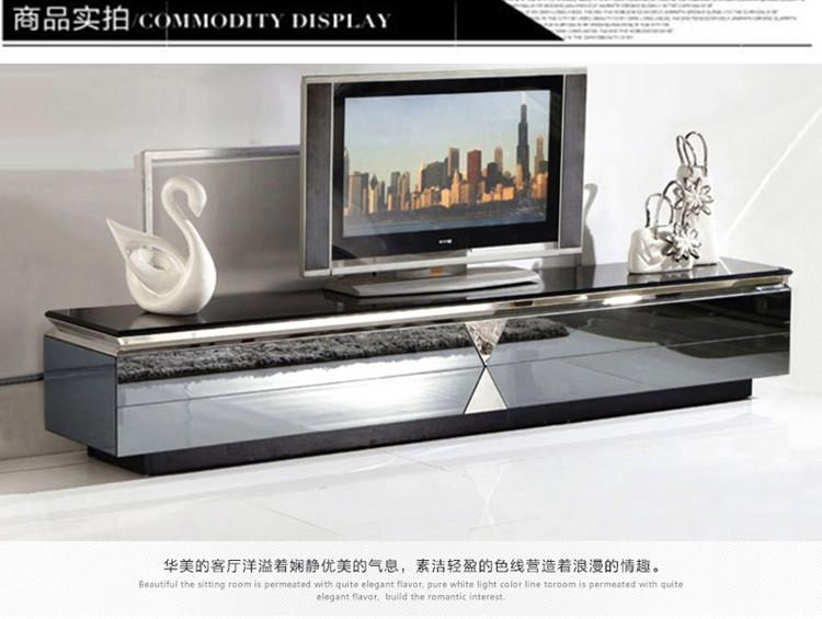 Minimalist Modern Glass Tv Cabinet Tv Cabinet Stainless Steel Throughout 2018 Glass Tv Cabinets (View 8 of 20)