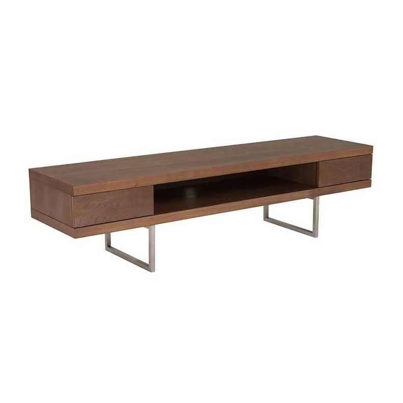 Miranda Modern Tv Stand – Walnut With Regard To Most Current Walnut Tv Stands (Image 6 of 20)