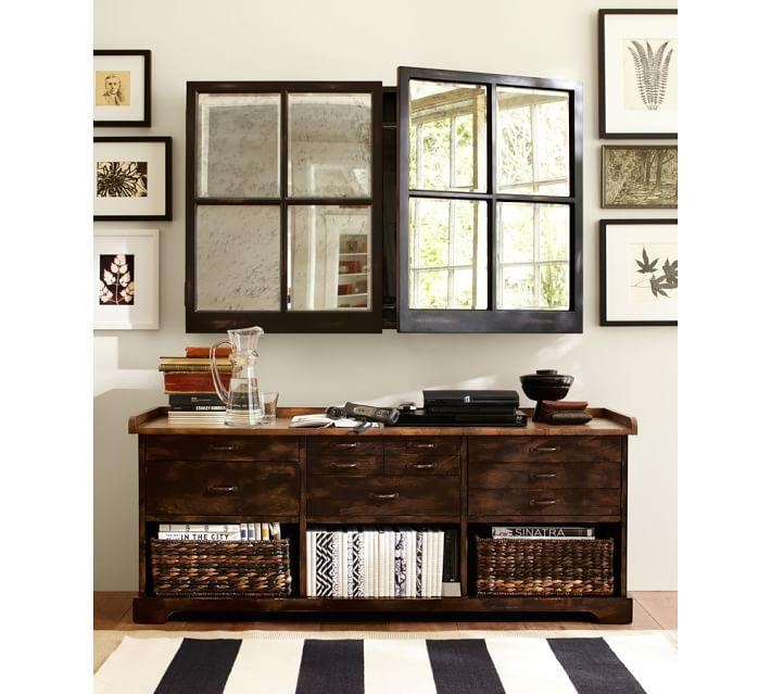Mirror Cabinet Tv Covers | Pottery Barn Intended For Newest Mirror Tv Cabinets (Image 7 of 20)