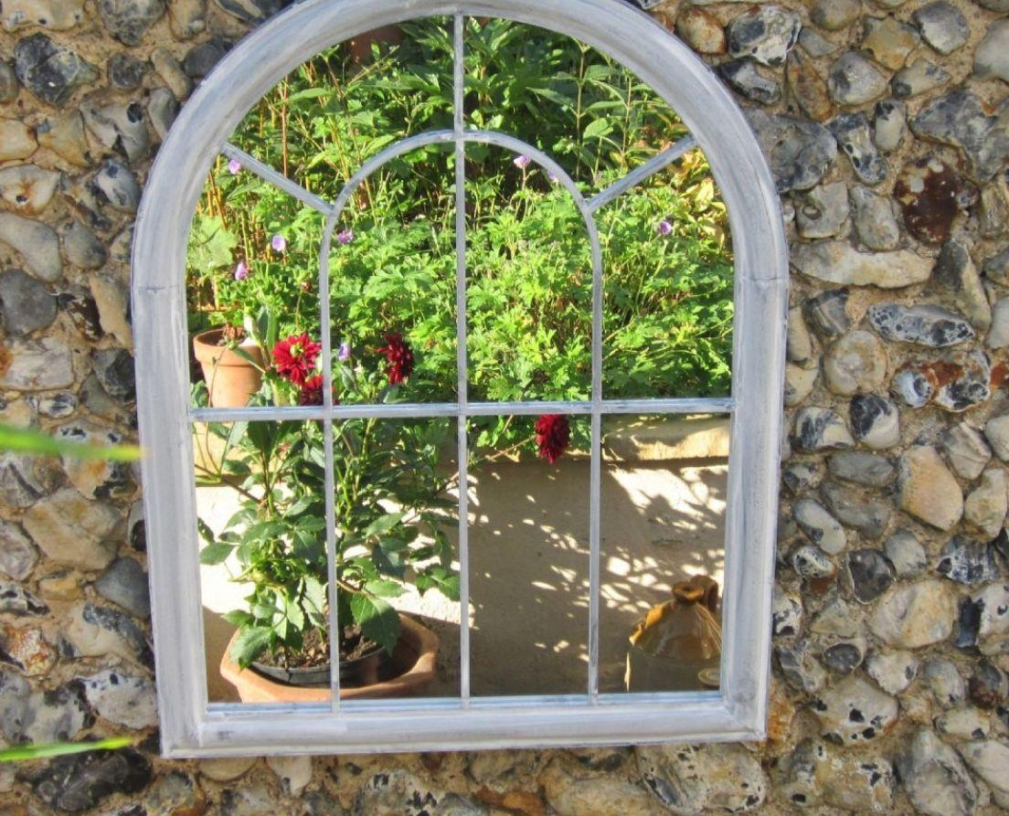 Mirror : Garden Gate Mirror U2013 Shopwiz Pertaining To Garden Wall Pertaining  To Outdoor Mirror Wall