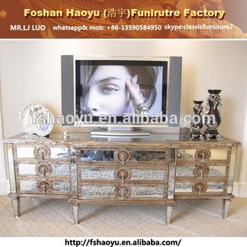 Mirror Tv Showcase Designs,ivory Antique Tv Cabinet With Showcase For Recent Mirror Tv Cabinets (Image 10 of 20)